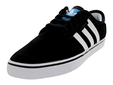 Adidas Men's Seeley Black1/Runwht/Pool Skate Shoe 7.5 Men US