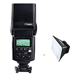 Godox TT680 C Camera Flash Speedlite with TARION Foldable Diffuser for Canon 100D 350D 450D 500D 600D 650D 700D 750D 760D 1000D 1100D 1200D 10D 20D 30D 40D 50D 60D 70D 1D 1D Mark II 1D Mark III 1D Mark IV 1Ds 1Ds Mark II 1Ds Mark III 1DX 5D 5D Mark II 5D