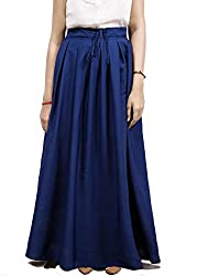 Fadjuice Women's Pleated Skirt (9115S_Blue_Small)
