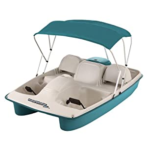 Buy Kl Industries Water Wheeler Asl 5 Person Pedal Boat With Canopy And Stainless Steel Package by Water Wheeler