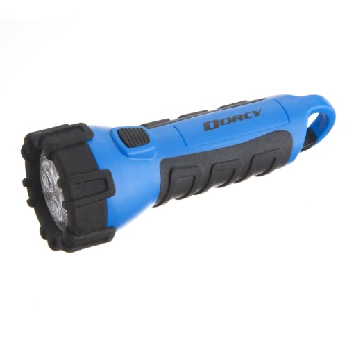 Dorcy 41-2514 Floating Waterproof LED Flashlight with Carabineer Clip, 55-Lumens, Blue Finish