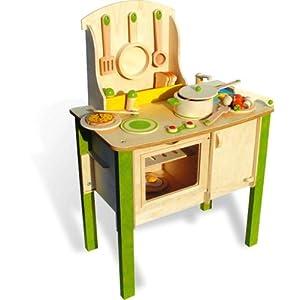 vilac 6153 jeux et jouets en bois la grande cuisine 48 pi ces en bois jeux et. Black Bedroom Furniture Sets. Home Design Ideas