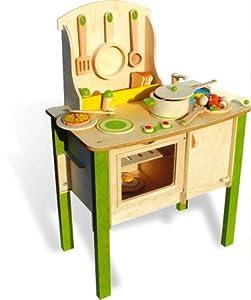 Classic french wooden kitchen set toys games for Kitchen set toys amazon