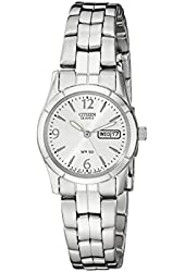 Citizen Women's EQ0540-57A Analog Display Japanese Quartz Silver-Tone Watch