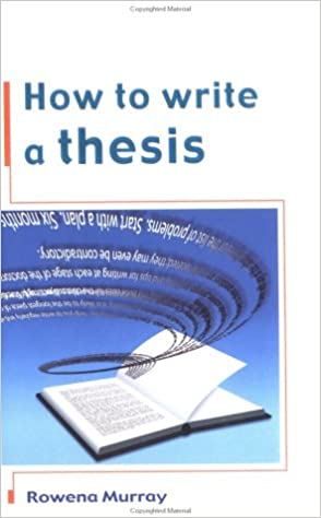 How to write a thesis book