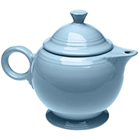 Homer Laughlin China Fiesta Periwinkle Blue Teapot 44 Oz.
