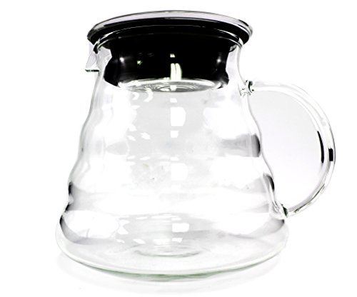800ml glass pour over coffee carafe, high quality 800ml pour over glass carafe