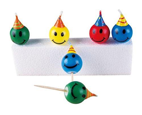 P'TIT CLOWN 80001 Bougie Sourire - Boîte de 6 - Multicolore