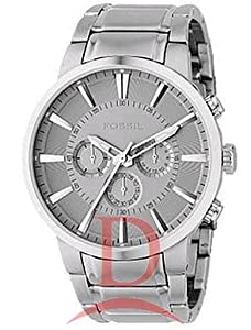 Fossil Men's FS4359 Stainless Steel Bracelet Silver Analog Dial Chronograph Watch