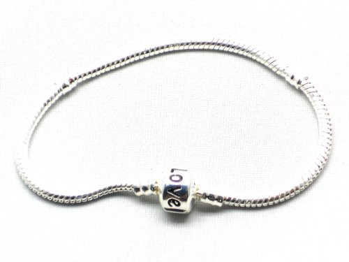 15cm Childs Silver plated Charm Bracelet for Pandora style beads and charms Will fit Troll and all 5mm beads and charms. We sell Murano Glass beads, Dangle Charms, Clip stops, Rhinestones,Enamels,dangles in singles and Bulk packs. Check Nambeads