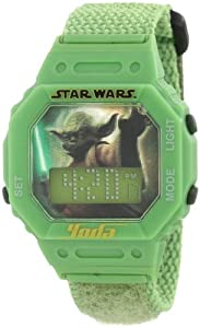 Star Wars Kids 9005855 Star Wars Yoda Digital Wrap Strap Green Dial Watch