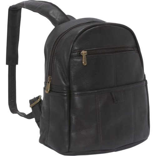 B005HSGIEC Le Donne Leather Quick Slip Womens Backpack (Café)