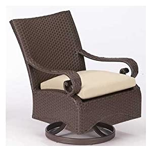 Carlton Wicker Lounge Chair Finish: Mahogany, Fabric: Borneo-Cocoa