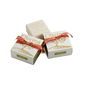 Olivina Bath Soap Trio Value Set, Olive