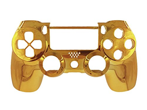 Chrome Golden Replacement Housing Front Shell Case Cover Compatible for PlayStation 4 PS4 Controller (Ps4 Game Controller compare prices)
