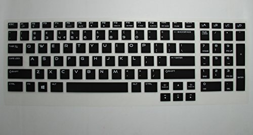 "Casebuy® High Quality Soft Silicone Gel Keyboard Cover Protector Skin For Dell Alienware Alw17 17 (2013 Version) Gaming Laptop(If Your ""Enter"" Key Looks Like ""7"", Our Skin Can'T Fit)(Semi-Black)"