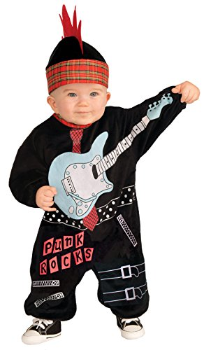 Forum Novelties Baby Boy's Lil Rock Star Punk Baby Boy Costume