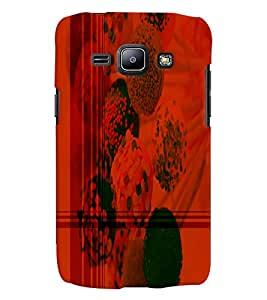 PrintVisa Modern Art Chocolate Ice 3D Hard Polycarbonate Designer Back Case Cover for Samsung Galaxy J1