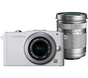 OLYMPUS PEN E-PM1 - white + M.Zuiko Digital 14-42 mm II Lens + M.Zuiko Digital ED 40-150 mm Lens + 2 YEARS WARRANTY