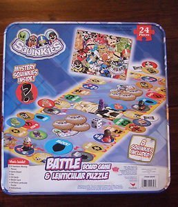 Squinkies Battle Board Game Lenticular Puzzle Set (8 Squinkies Included) - 1