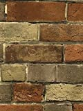 Wallpaper Faux Rust Tuscan Brick Wall, Looks Real Up!