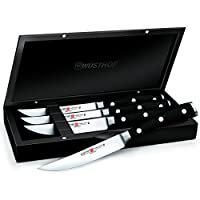 Wusthof Classic Ikon 4-Piece Steak Set with Wooden Box