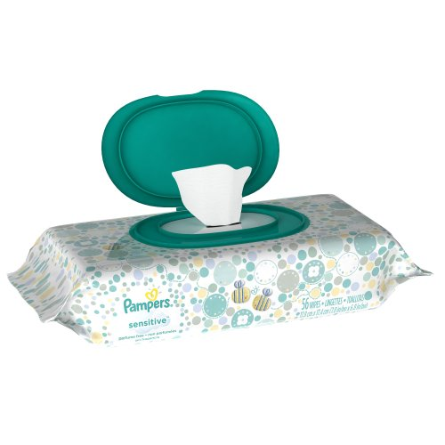 Pampers Sensitive Wipes Travel Pack 56 Count