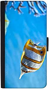Snoogg Colorful Fish Designer Protective Phone Flip Back Case Cover For Lenovo Vibe K4 Note