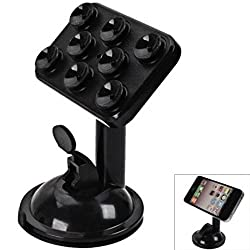 360 Degree Rotation JIEXUN JX1-020 Multifunction Placing Plate & Car Mount Holder For All Smart Mobile Phone - Black