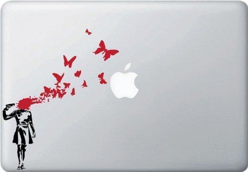 MacBook 対応 アートステッカーButterfly Suicide -[並行輸入品]