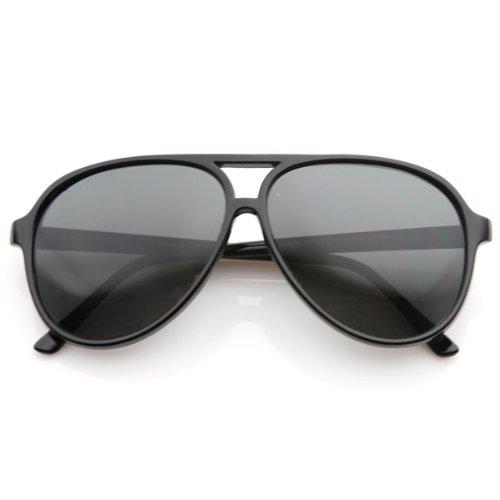 Polarized Protective Lens Classic Teardrop Design Plastic Aviator Sunglasses