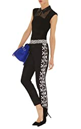 Minimal Print Color Block Trouser
