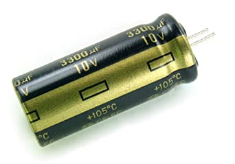 What can replace a 10v 3300uf capacitor?