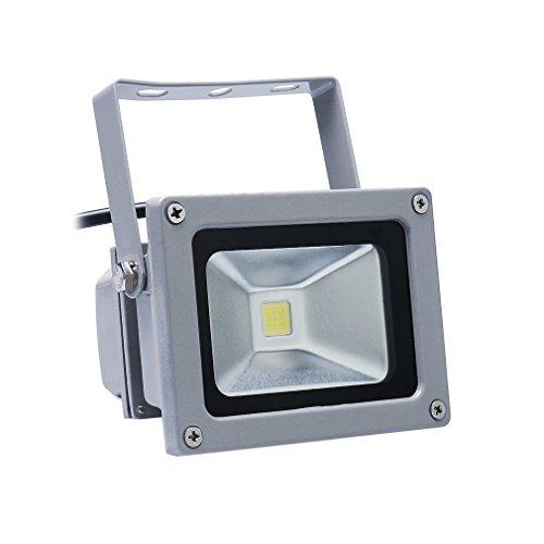 Auralum10W-Warmwei-LED-Auenstrahler-IP67-900LM-230V-28003200K-Scheinwerfer-Baustrahler-Fluter-Flutlicht-Gartenstrahler-Grau