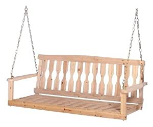Amazon Com Cypress 4 Ft Wood Porch Swing Unfinished With