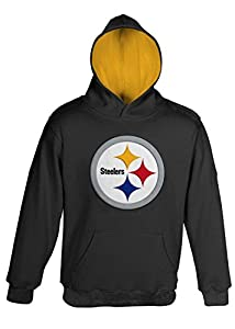 """Pittsburgh Steelers Youth NFL """"Primary"""" Pullover Hooded Sweatshirt from Outerstuff"""
