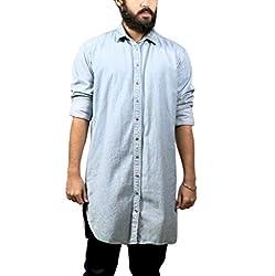 Fadjuice Men's Shirt (Fj44237X_Pastel Blue_X-Large)