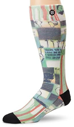 Stance Men's Warning Socks, White, Small/Medium