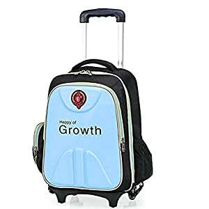 Cute Lovely Boys Girls EVA Waterproof School Backpack Kids Travelling Bags Hiking Shoulder Bags Suitcases With Removable Wheeled Trolley Hand For Pupils Primary Students
