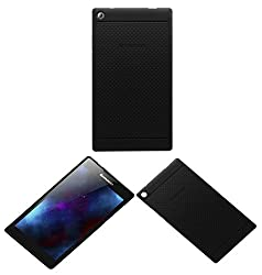 Acm Dotted Soft Silicon Back Case For Lenovo Tab 2 A7-30 Tablet Premium Cover Black