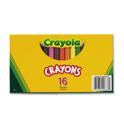 Large Crayons, 16 Colors/Box - 1