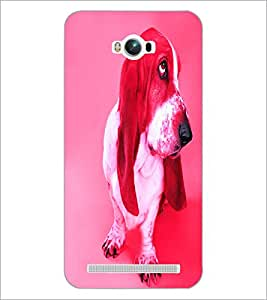 PrintDhaba Cute Dog D-3440 Back Case Cover for ASUS ZENFONE MAX ZC550KL (Multi-Coloured)