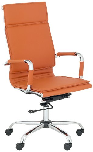 Cameron Terra Cotta Faux Leather Highback Desk Chair Discount Anh0405