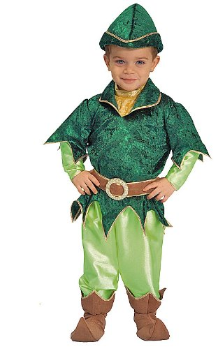 Deluxe Peter Pan Child Halloween Costume Size 4T Toddler