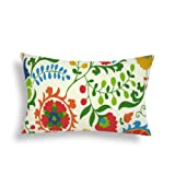 Domusworks Garden Lumbar Pillow, Multicolor
