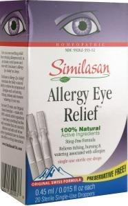 Similasan Eye Drops #2 Monodose, Allergy Eye Relief 20-Count