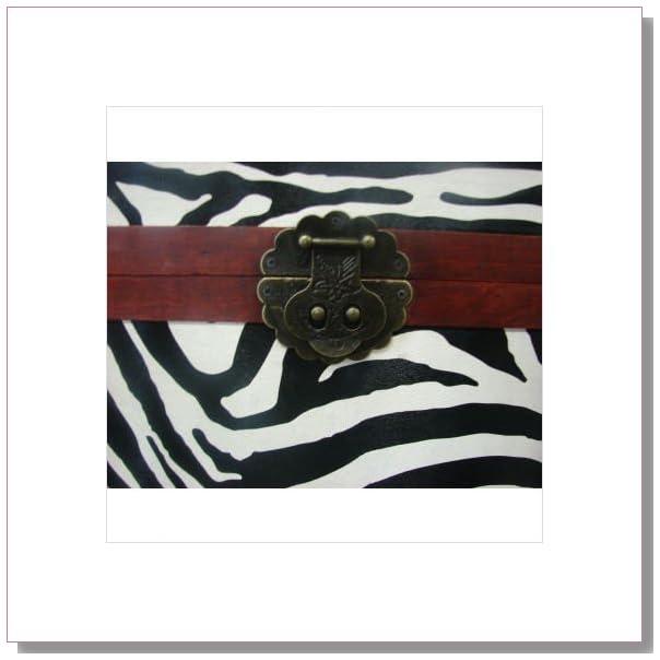 Phat Tommy Zebra Print Decorative Trunk