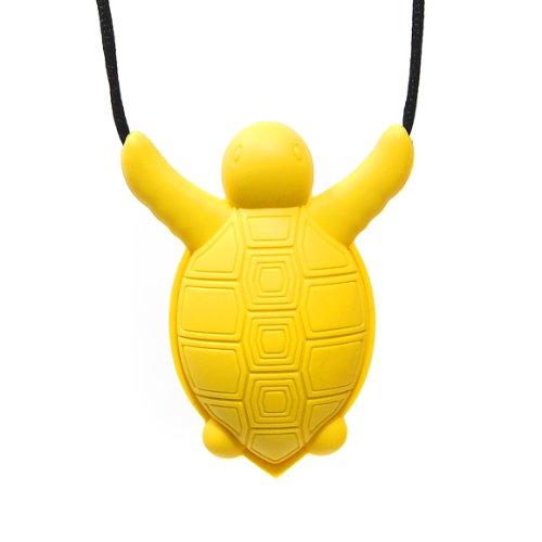 Siliconies Turtle Pendant - Silicone Necklace (Teething/Nursing/Sensory) (Yellow)