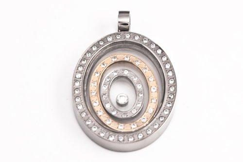 CEM Titanium Jewelry Women Pendants Gray/Gold PTS403