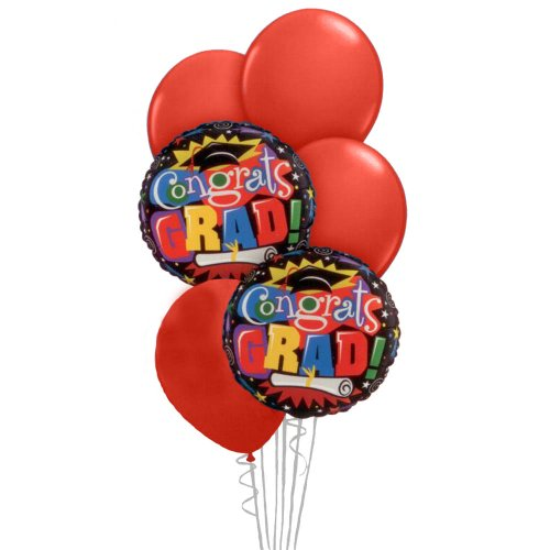 Graduation Balloon Bouquet - Red